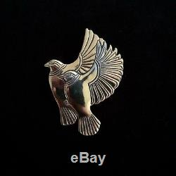 Vintage Laurel Burch Flying Birds Pin / Brooch