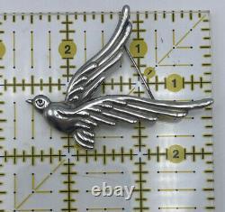 Vintage Los Castillo Taxco Mexico Sterling Silver Dove Bird Pin Brooch #622