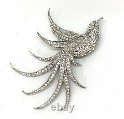 Vintage MB Exotic Pave Bird Pin Brooch Pendant