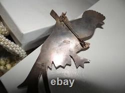 Vintage Mexican Taxco Sterling Bird Frida 30s