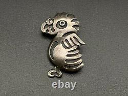 Vintage Mexico Francisco Rivera Bird Sterling Silver Pin Brooch