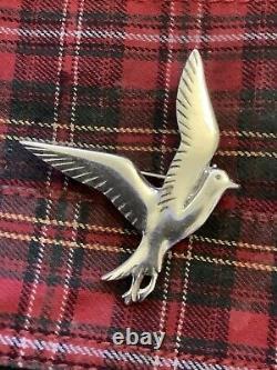 Vintage OLA GORIE-Sterling Silver-Sea Bird/ Bird Of Prey-In Flight-Brooch/ Pin