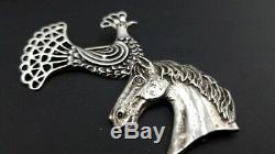 Vintage Rare MCM Pierre Toulhoat Sterling 925 Silver Bird Brooch - Lot of 2