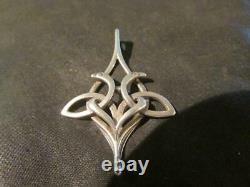 Vintage Scottish Orkney Ola Gorie Solid Silver Kells Bird Pendant