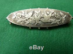Vintage Silver Sweetheart Brooch Birds