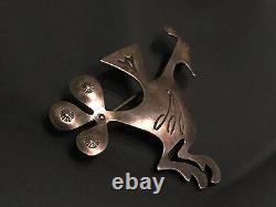 Vintage Southwestern Sterling Silver Bird Pin Brooch