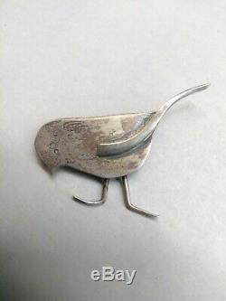 Vintage Sterling FHB Fat Bird Brooch Pin Francis Holmes Boothby Signed