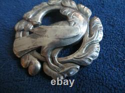Vintage Sterling GEORG JENSEN Large 2 3/8 Pin Brooch Dove Bird no. 70 Denmark