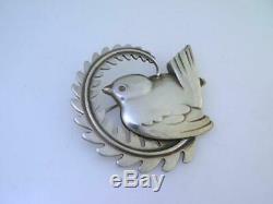 Vintage Sterling GEORG JENSEN Pin / Brooch Robin Bird no. 309 Denmark