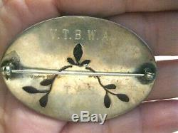 Vintage Sterling Silver Carved Cameo & Mop Birds Pierced Oval Brooch/pinrare