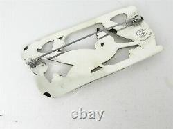 Vintage Sterling Silver Coro Norseland Bird Ladies Pin Brooch 31g B14
