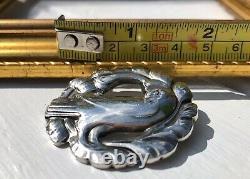 Vintage Sterling Silver Georg Jensen Dove Bird Pin Brooch #165