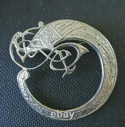 Vintage TAIN SILVER Medium Celtic Bird Handcrafted Brooch Doug Scott