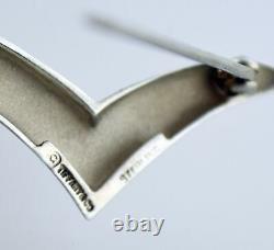 Vintage Tiffany & Co Sterling Silver Bird Seagull Brooch Pin 1 1/8 With Pouch