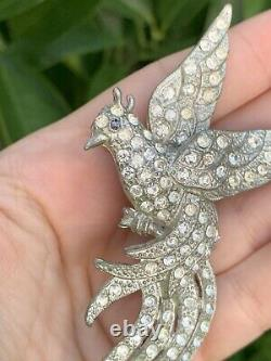 Vintage brooch Bird circa Antique 1930s Large 4 Inches Flying Bird Very Rare Pin