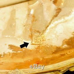 Vtg 18k 750 Gold Diamond Cut Bird Pin Brooch Quality Heavy Trombone Clasp 17.9G