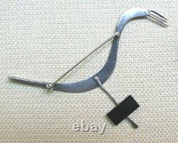 Vtg Sterling Silver Mid Century Modernist Bird Brooch BETTY COOKE Signed 151a