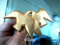 WOW Vintage VERY LARGE Gold Metal Nina Ricci Bird Brooch Paris L'Air Du Temps